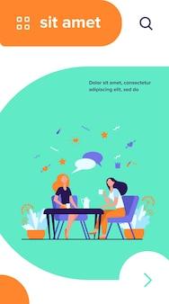 Vriendinnen opknoping in café