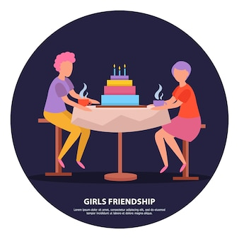 Vriendinnen verjaardagsfeestje nacht