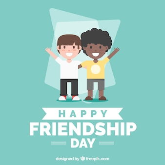 Vriendschap dag achtergrond met vrienden