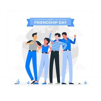 Vriendschap dag concept illustratie