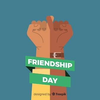 Vriendschap dag platte ontwerp achtergrond
