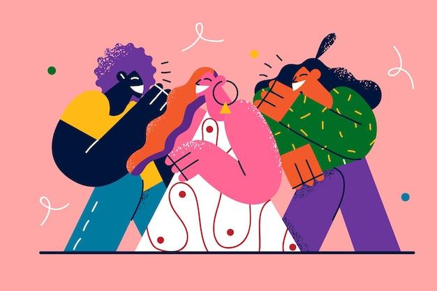 Vriendschap gemengd ras bedrijf illustratie