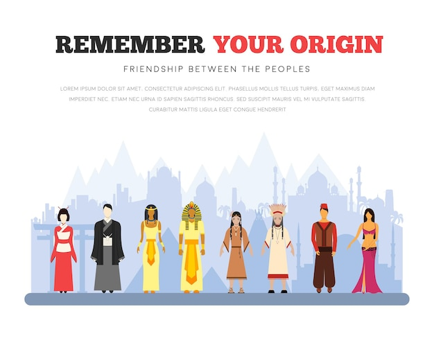 Vriendschap van mensen. internationale dag van de inheemse volkeren van de wereld.