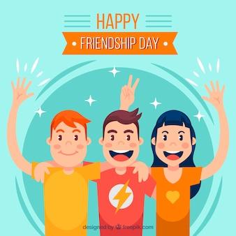 Vriendschapsdag achtergrond met beste vrienden