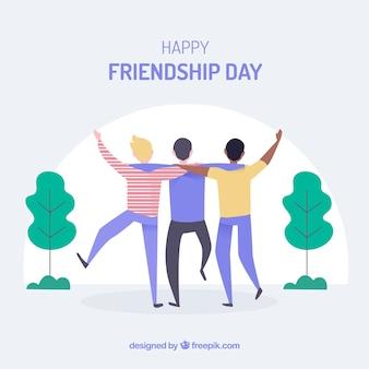 Vriendschapsdag achtergrond met gelukkige mensen