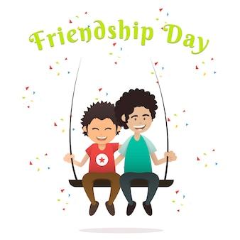 Vriendschapsdag illustratie