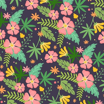 Vrij exotisch bloemenpatroon