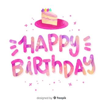 Vrij gelukkige verjaardag belettering