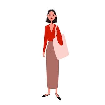 Vrij jonge vrouw in vrijetijdskledingillustratie