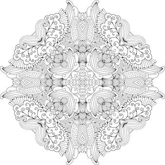 Vrij kleurloos cirkelvormig ontwerp met wijnstokken