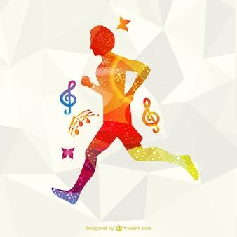 Vrij lopen atleet vector