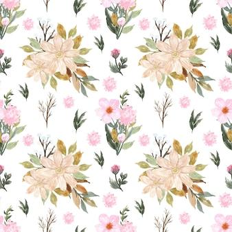 Vrij naadloos bloemenpatroon