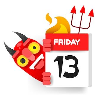 Vrijdag 13 kalender met demon