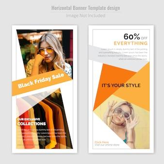 Vrijdag verkoop eenvoudige flyer-sjabloon