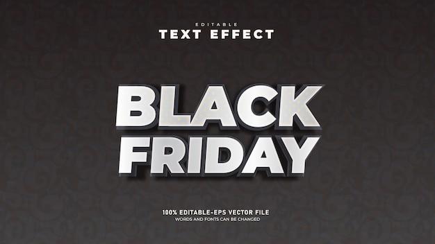 Vrijdagverkoop bewerkbare 3d-teksteffectsjabloon premium vector