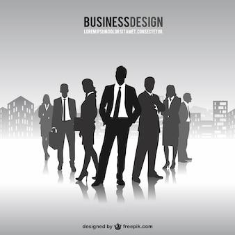 Vrije mensen uit het bedrijfsleven silhouetten vector