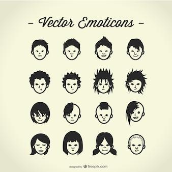 Vrije vector avatars instellen