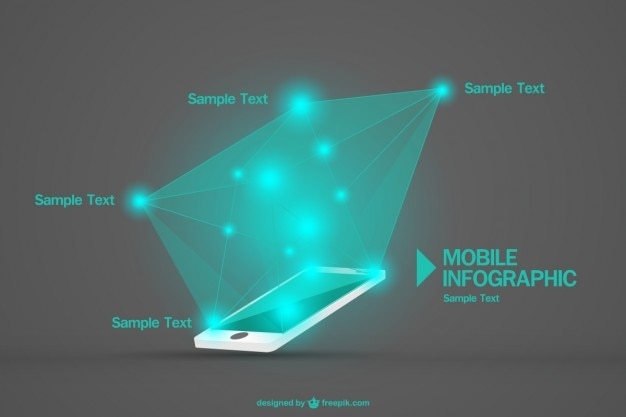 Vrije vector mobiele infographic