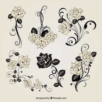 Vrije vector rozen decoratie