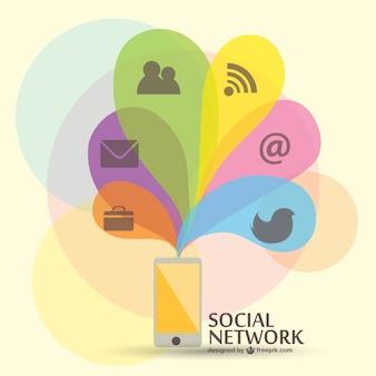 Vrije vector sociale media plat ontwerp
