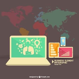 Vrije vector wereldwijd multmedia infografie