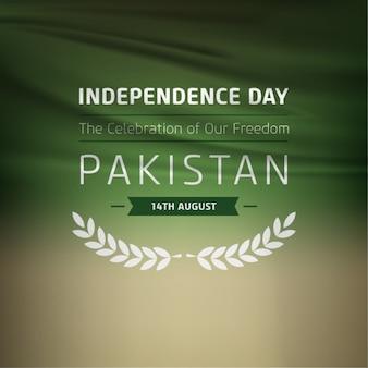 Vrijheid etiket op blur background pakistan