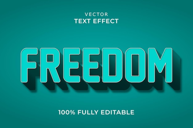 Vrijheid teksteffect