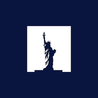 Vrijheidsbeeld monument vector logo afbeelding