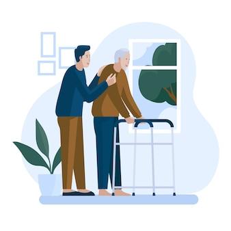 Vrijwilligers helpen ouderen