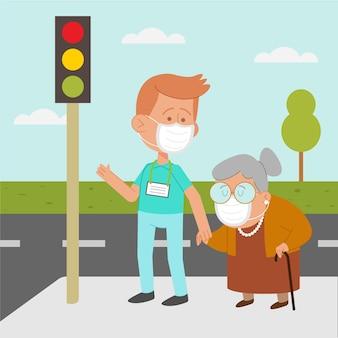 Vrijwilligers helpen senioren