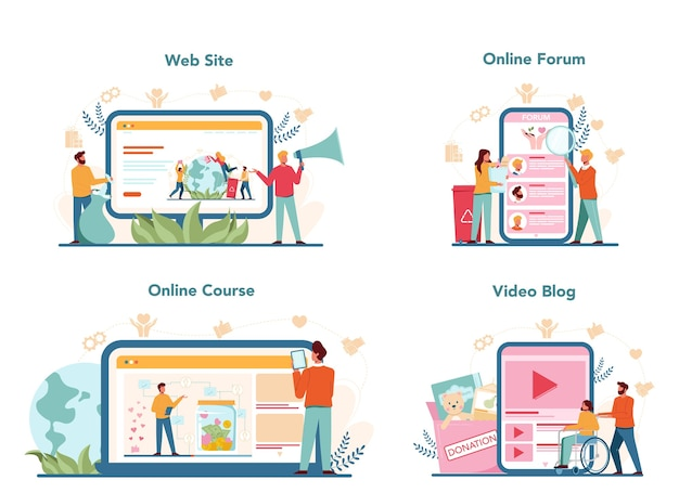 Vrijwilligerswerk online service of platform