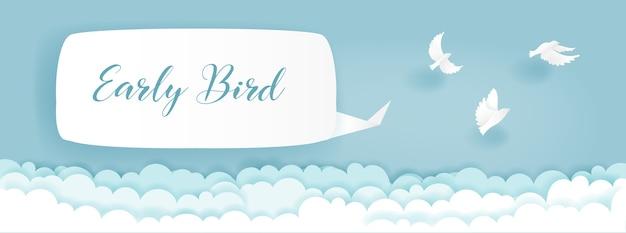 Vroege vogel concept