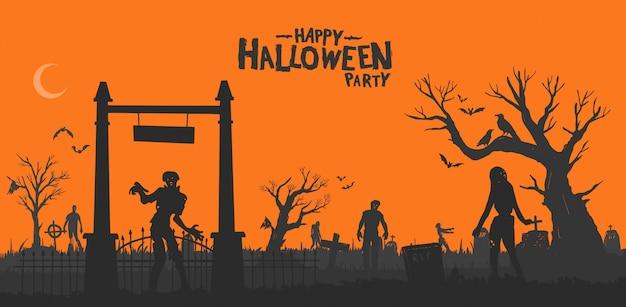 Vrolijk halloweenfeestje