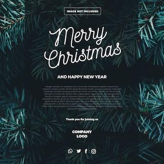 Vrolijk kerst e-mail sjabloon