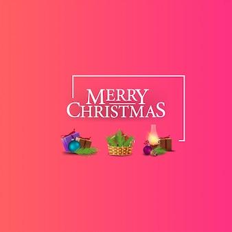 Vrolijk kerst-logo met kerst iconen