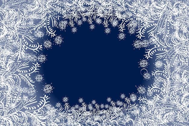 Vrolijk kerst wervelend sneeuweffect met realistische helderwitte sneeuwvlokken