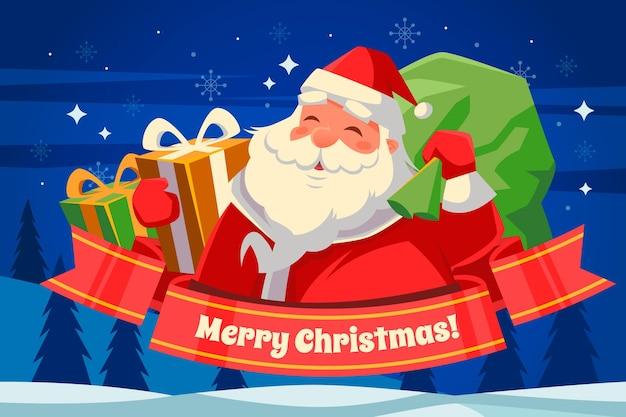 Vrolijk kerstbehangontwerp