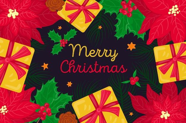 Vrolijk kerstbehangthema