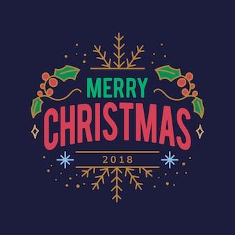 Vrolijk kerstfeest 2018 groet badge