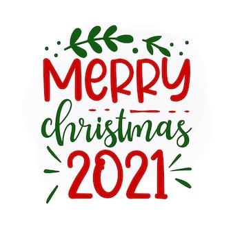 Vrolijk kerstfeest 2021 kerstcitaat premium vector