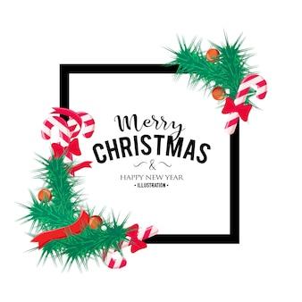 Vrolijk kerstfeest achtergrond. perfect decoratie-element voor kaarten, uitnodigingen en anderen