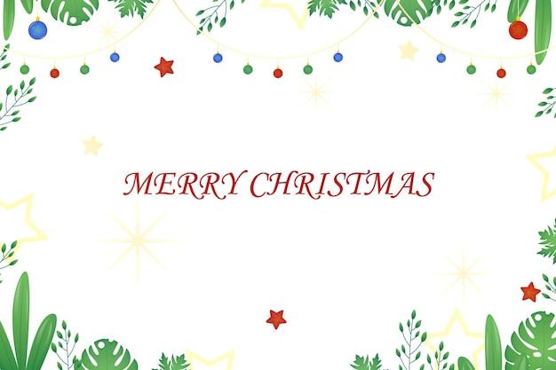 Vrolijk kerstfeest achtergrondontwerp met ornament