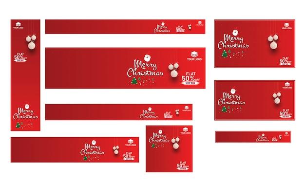 Vrolijk kerstfeest banner ontwerp.