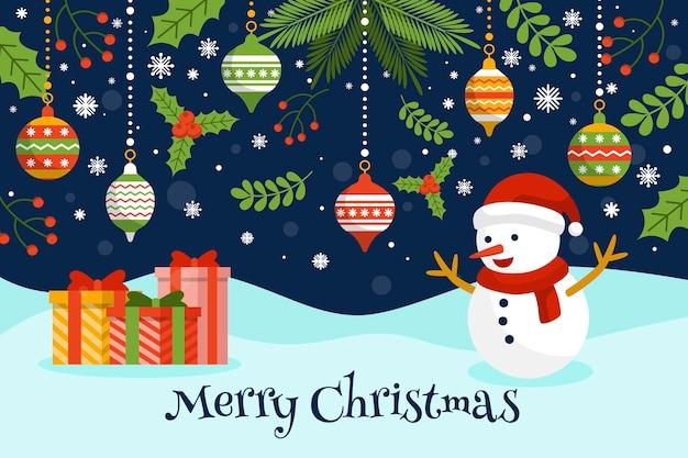 Vrolijk kerstfeest behang