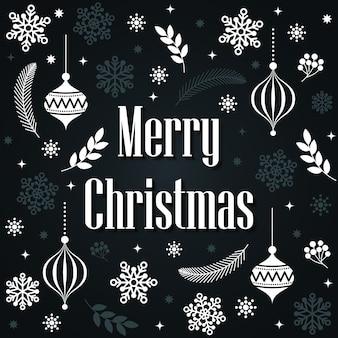 Vrolijk kerstfeest belettering kaartsjabloon