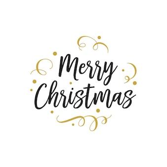 Vrolijk kerstfeest belettering voor feest