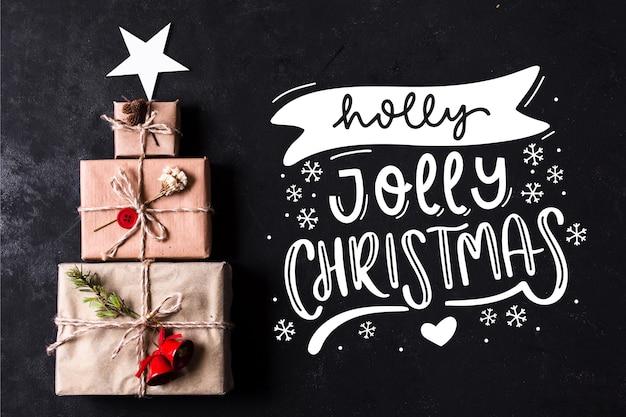 Vrolijk kerstfeest - belettering