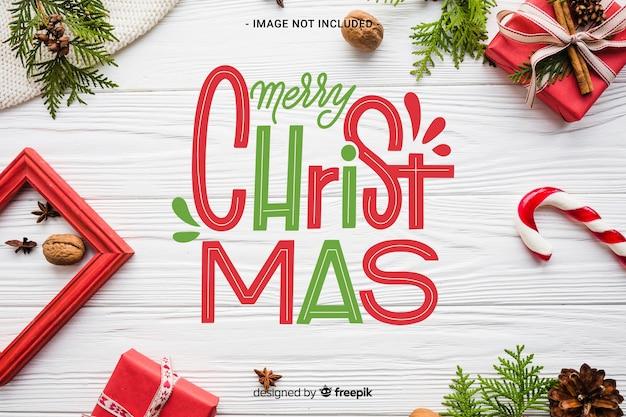 Vrolijk kerstfeest belettering