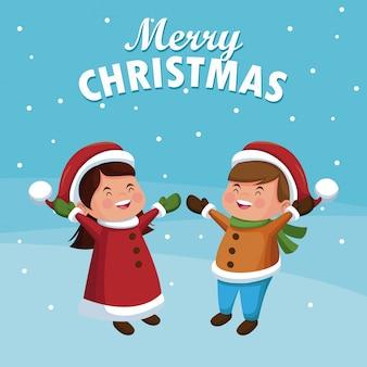 Vrolijk kerstfeest cartoon