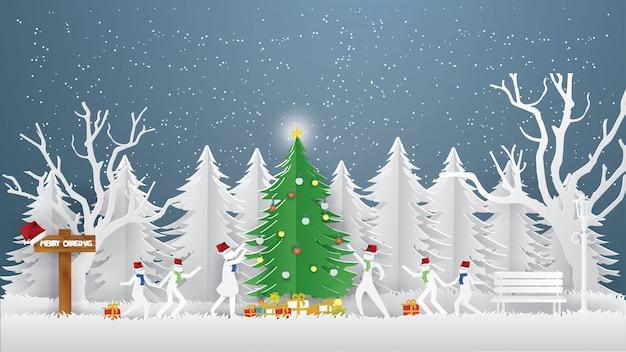 Vrolijk kerstfeest concept